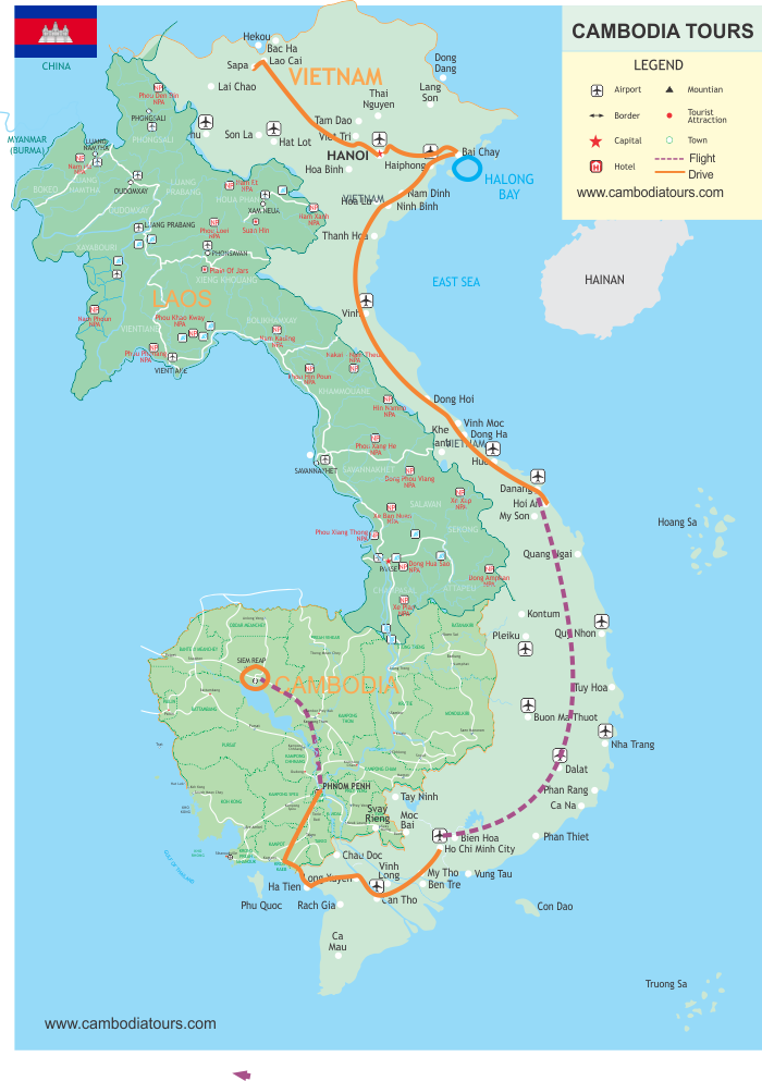 Authentic Vietnam & Cambodia - 18 Days map