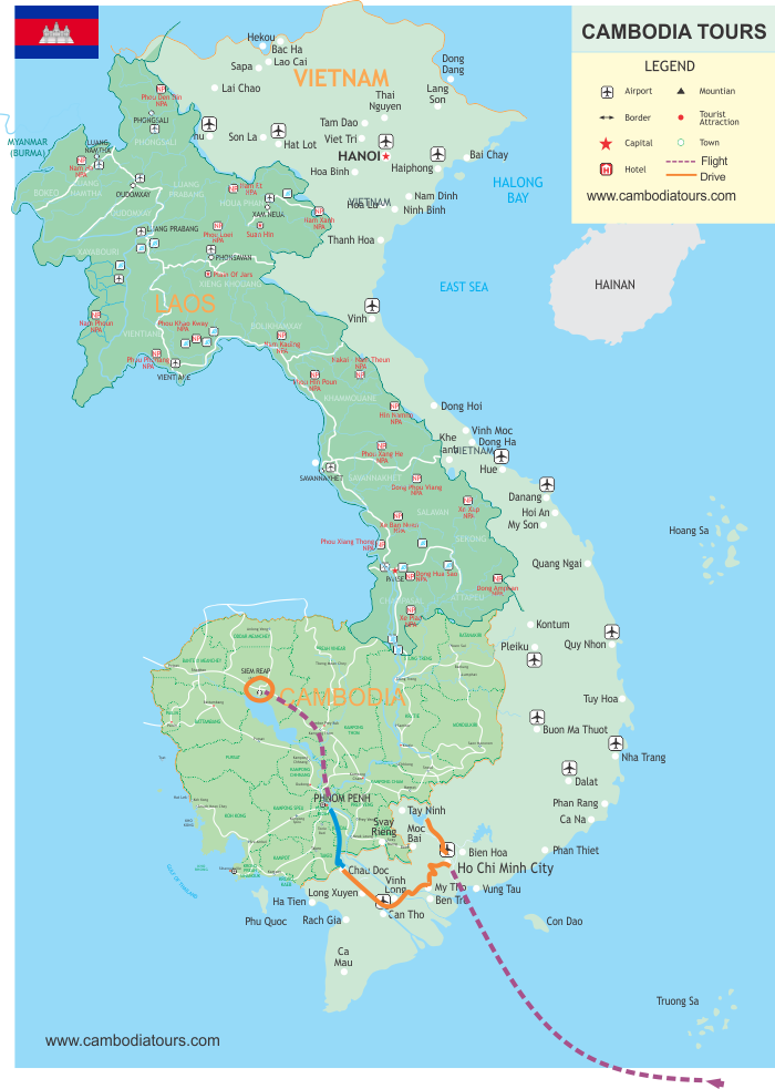 Luxury Mekong Experience - 8 Days map