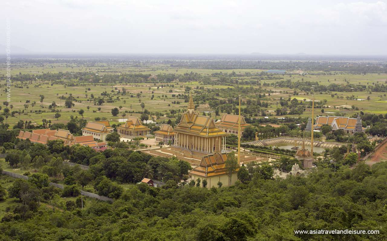 Oudong city in Cambodia