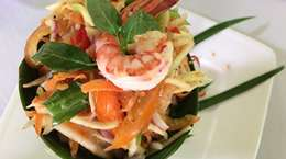Pomelo Salad with Shrimp and Pork in Phnom Penh Cambodia