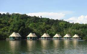 Four Rivers Lodge on its idyllic bend in the Tatai River