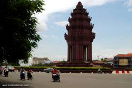 The Independence Monument in Phnom Penh Cambodia