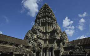 Ruins of ancient temple in Angkor Wat