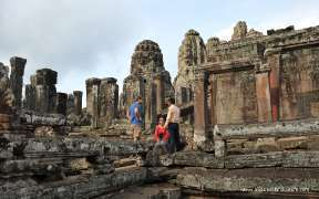 Tourists at Angkor Wat temple