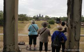 The other side of Angkor Wat temple
