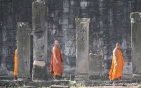 Buddhist monks at Angkor Wat temple