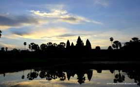 Angkor Wat temple in the sunset