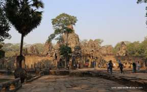 Angkor Wat temple in the sunshine