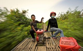 Bamboo train - Battambang - Cambodia