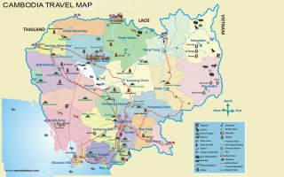 Cambodia Travel Map