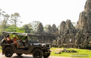 Explore Angkor Temples by Jeep
