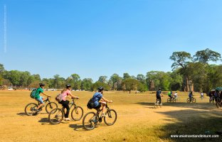 Biking around Angkor Temples