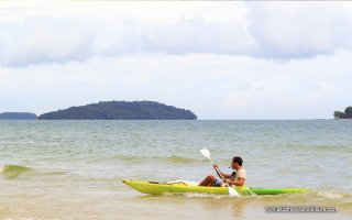 Kayaking in Sihanoukville in Cambodia