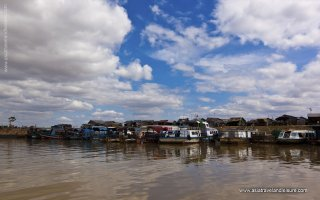 Chong Kneas floating village in Cambodia