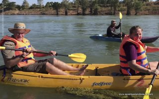 Kayaking through the flooded forest in Ramsar Wetland