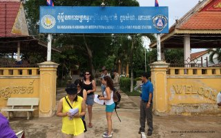 Cambodia Immigration Office by Mekong River